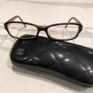 CHANEL 3158 c.1134 Tortoise/Black Eyeglasses